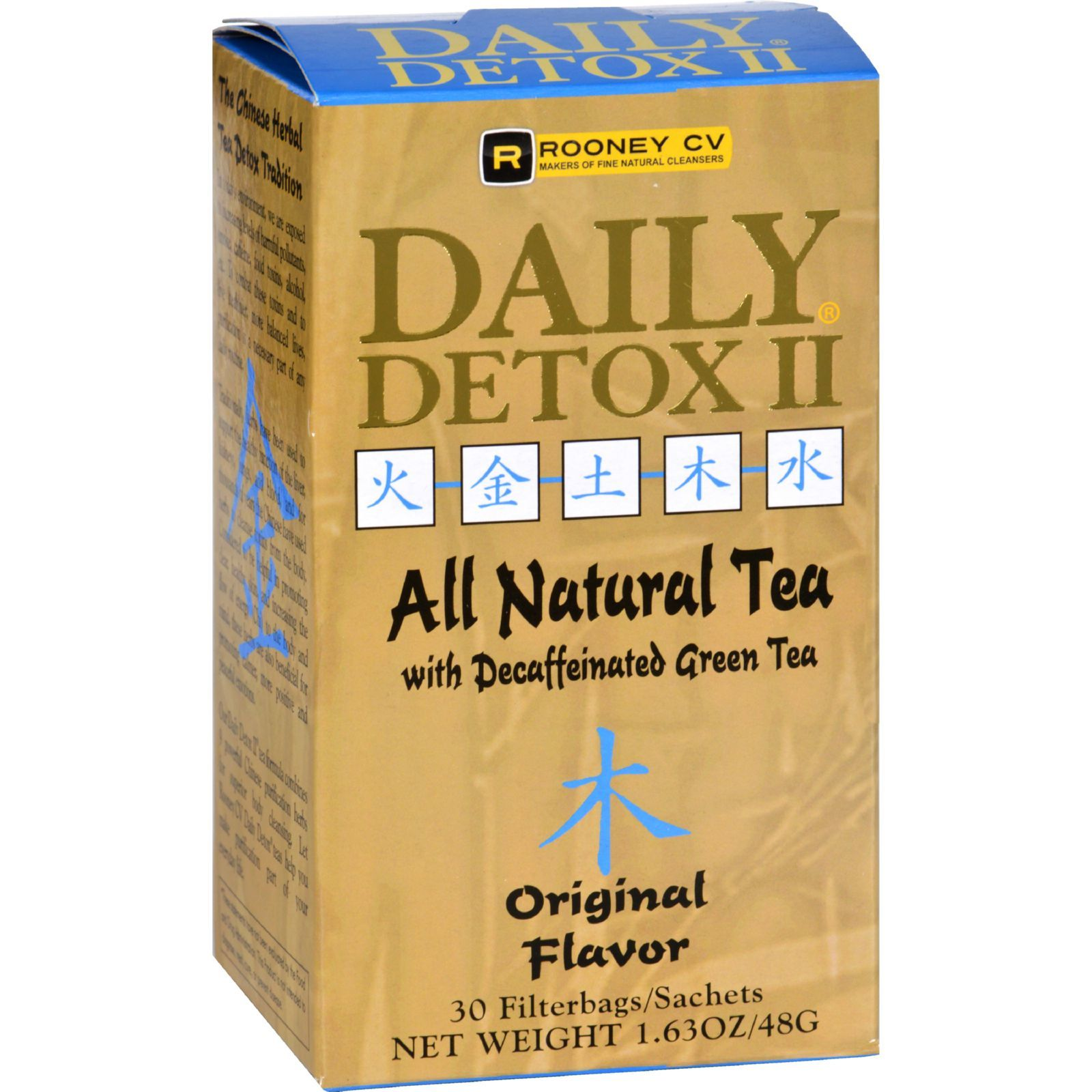 Wellements Daily Detox II All Natural Tea Original - 30 Sachet