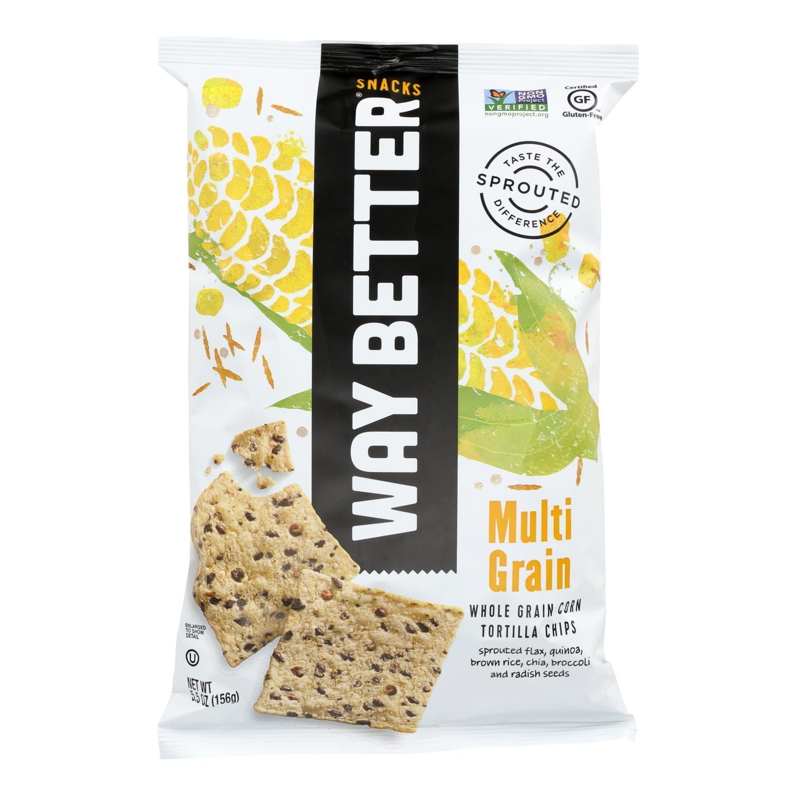 Way Better Snacks Tortilla Chips - Multi - Grain - Case of 12 - 5.5 oz.