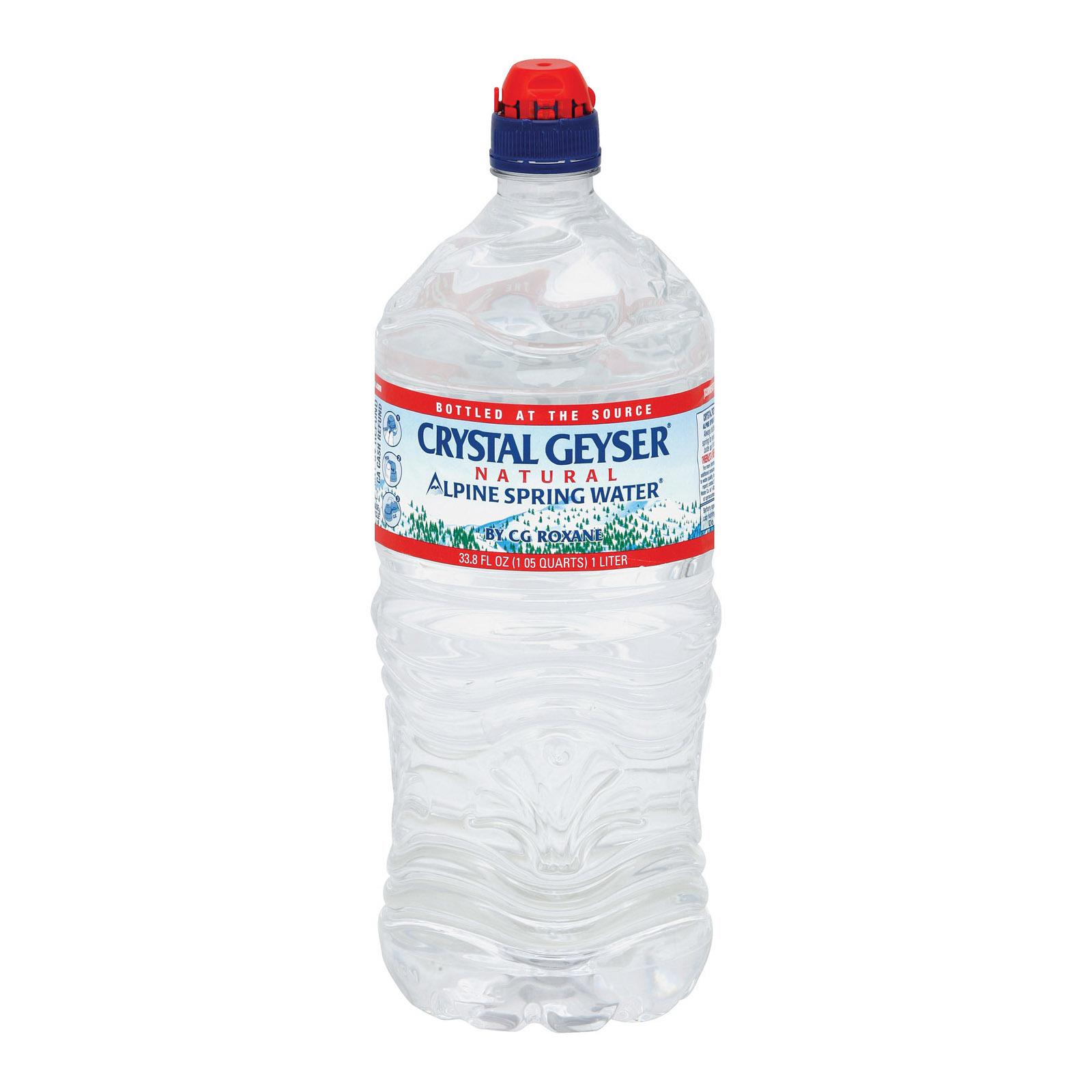 Crystal Geyser Alpine Spring Water - Case of 15 - 33.8 Fl oz.