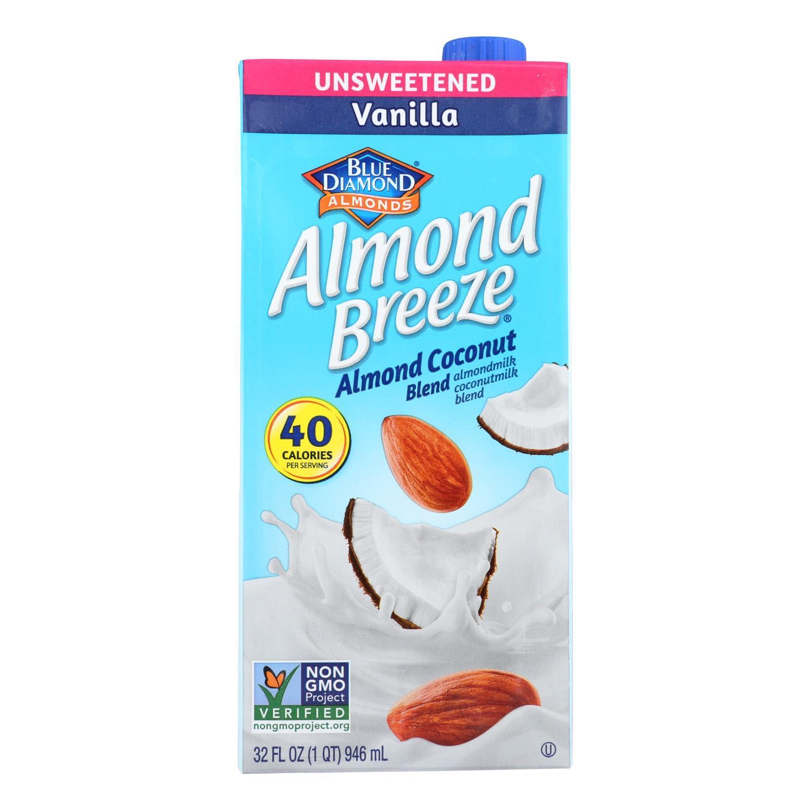 Almond Breeze Almondmilk Coconutmilk Blended - Vanilla Almond Coconut - Case of 12 - 32 fl oz