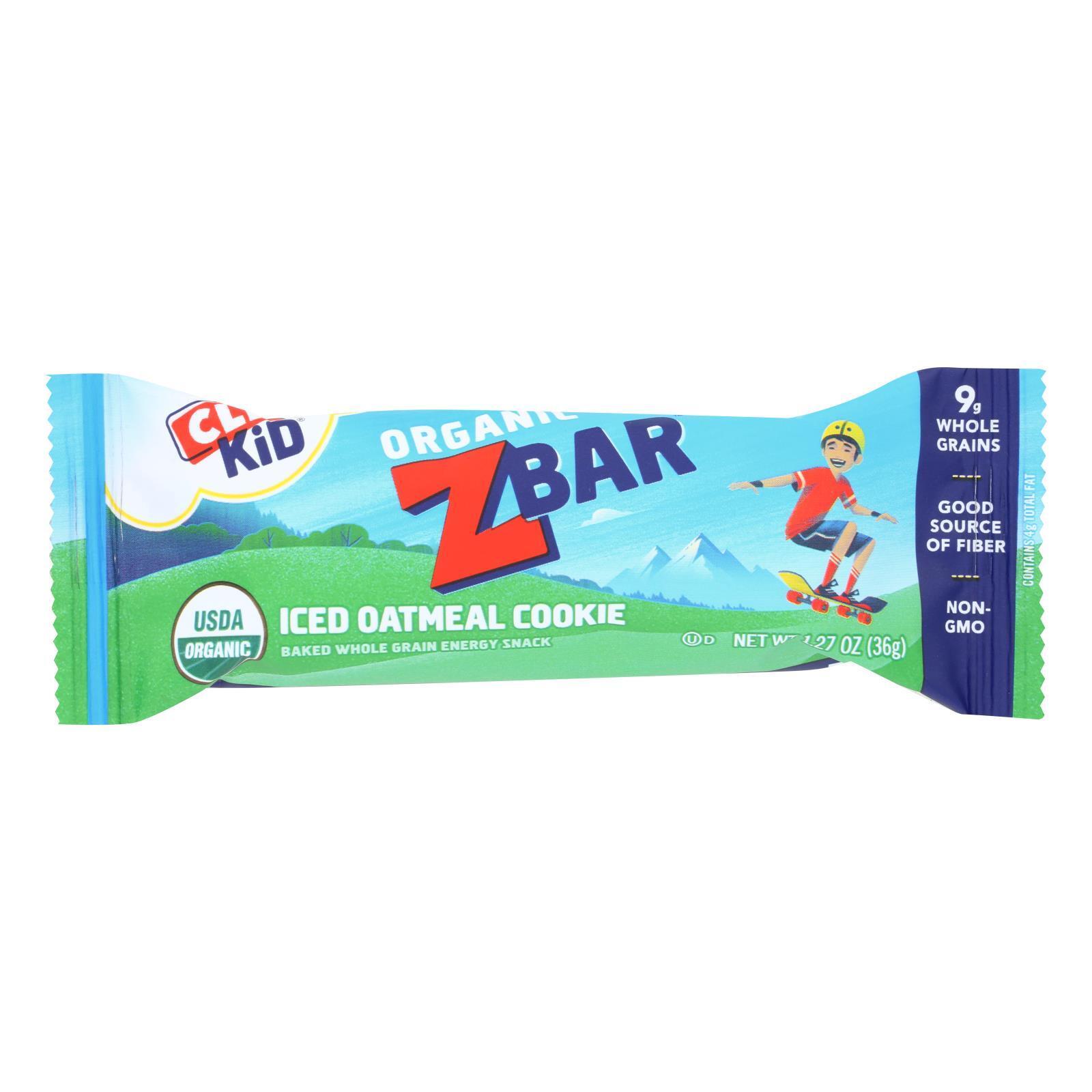 Clif Bar Organic Clif Kid Zbar - Iced Oatmeal Cookie - Case of 18 - 1.27 oz Bars