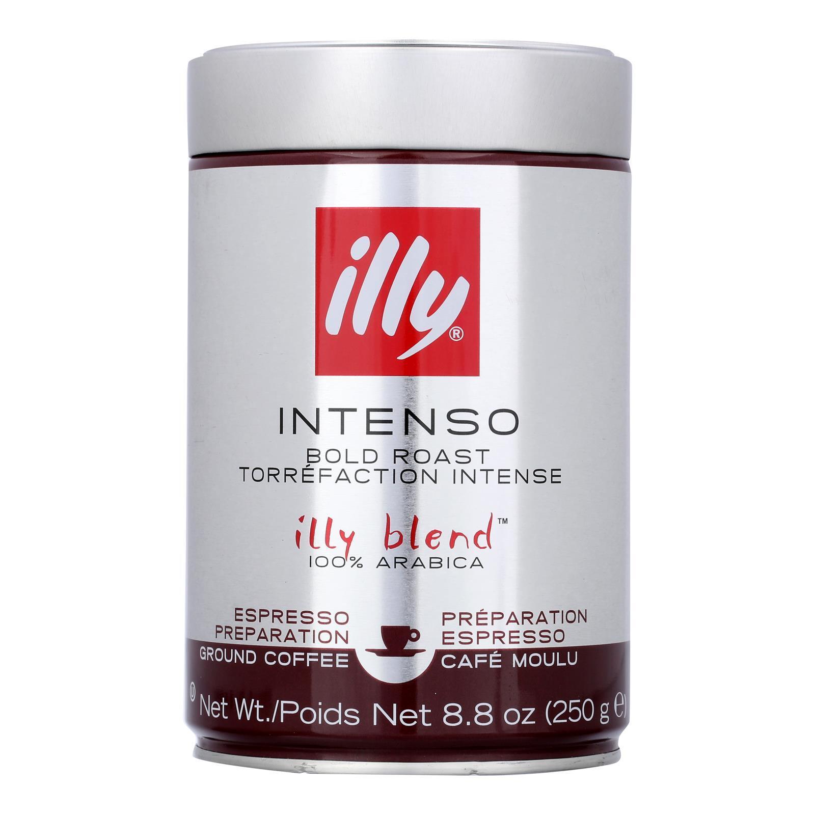 Illy Caffe Coffee Coffee - Espresso - Ground - Dark Roast - 8.8 oz - case of 6