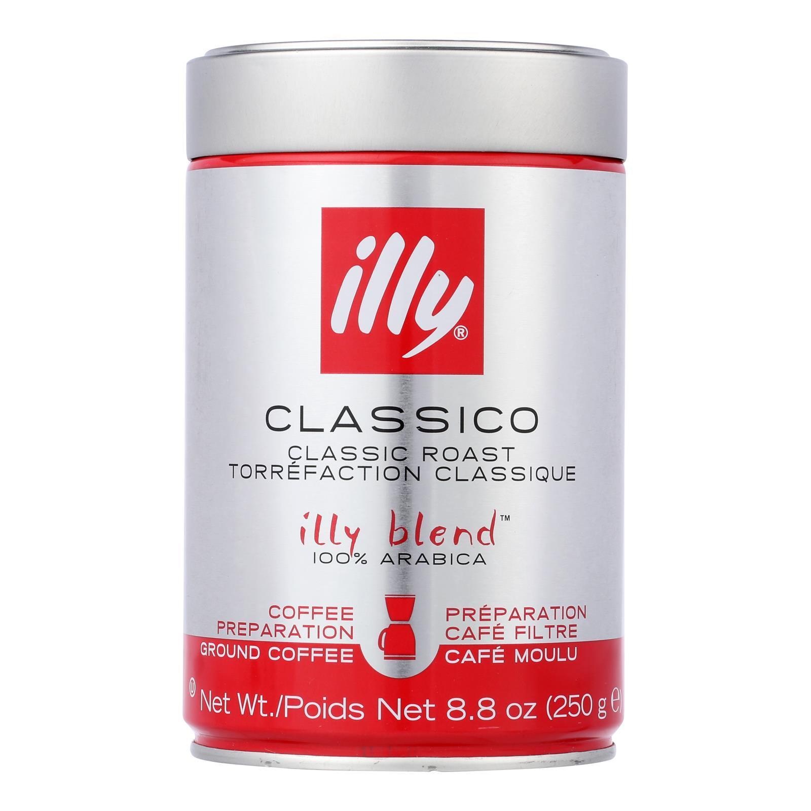 Illy Caffe Coffee Coffee - Drip - Ground - Medium Roast - 8.8 oz - case of 6