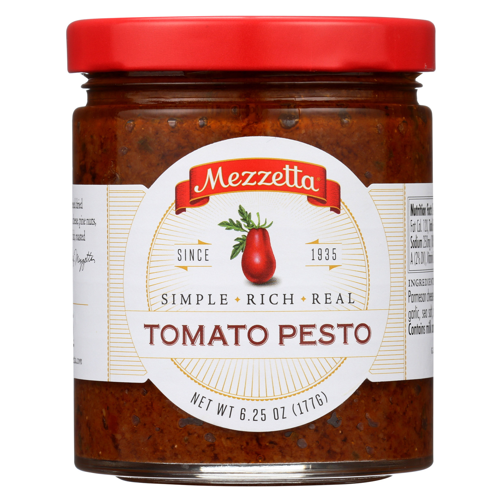 Mezzetta Sun Ripened Dried Tomato Pesto - Case of 6 - 6.25 oz.