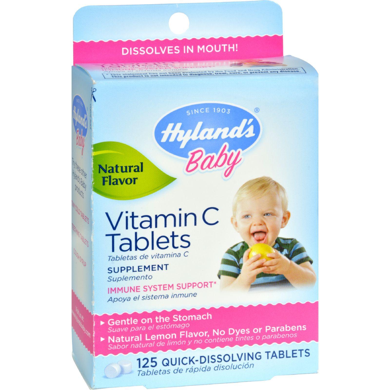 Hyland's Vitamin C Tablets Natural Lemon - 25 mg - 125 Tablets