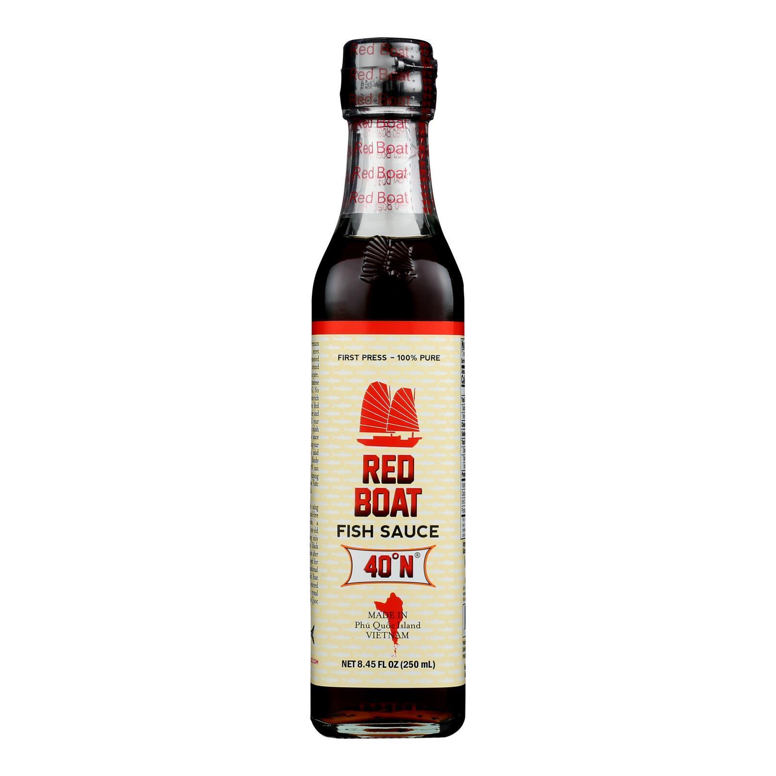 Red Boat Fish Sauce Premium Fish Sauce - Case of 6 - 250 ml