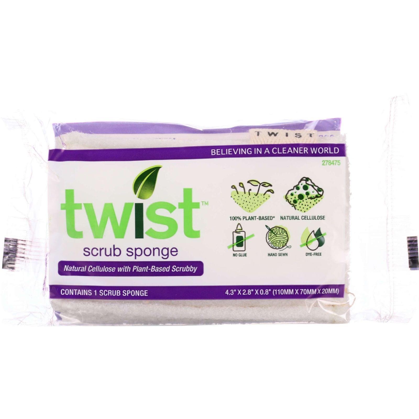 Twist Sponge - Plant-Based - Scrub - 1 pack - case of 24