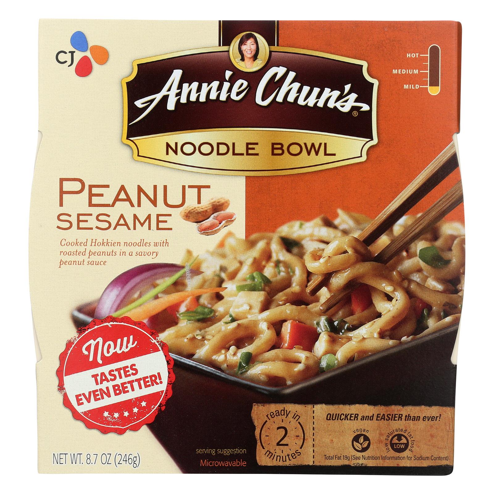 Annie Chun's Peanut Sesame Noodle Bowl - Case of 6 - 8.8 oz.
