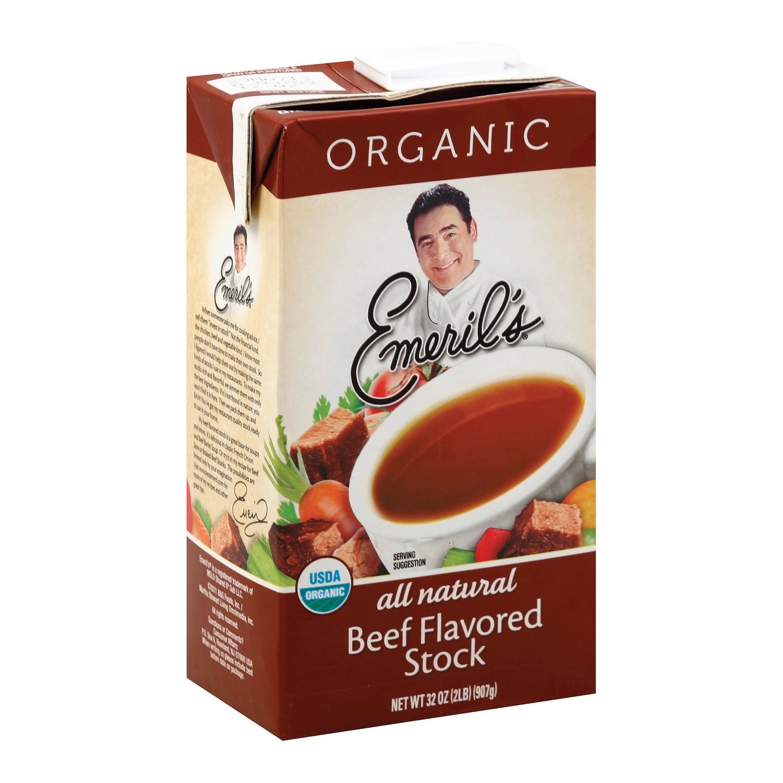 Emeril Organic Beef Stock - Case of 6 - 32 oz.