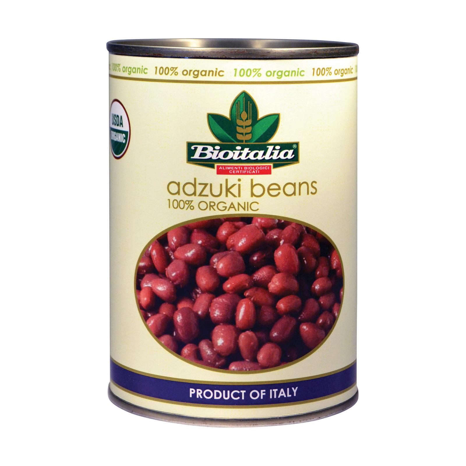 Bioitalia Beans - Adzuki Beans - Case of 12 - 14 oz.