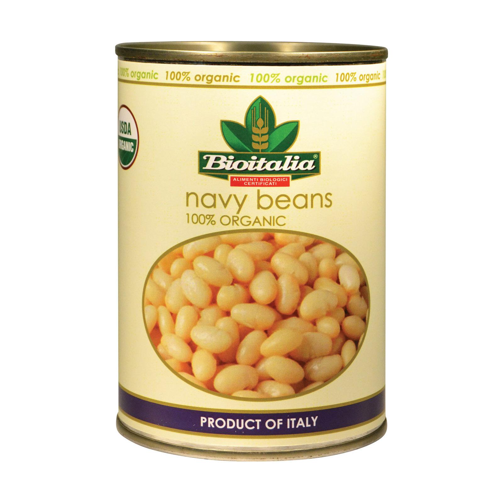 Bioitalia Beans - Navy Beans - Case of 12 - 14 oz.