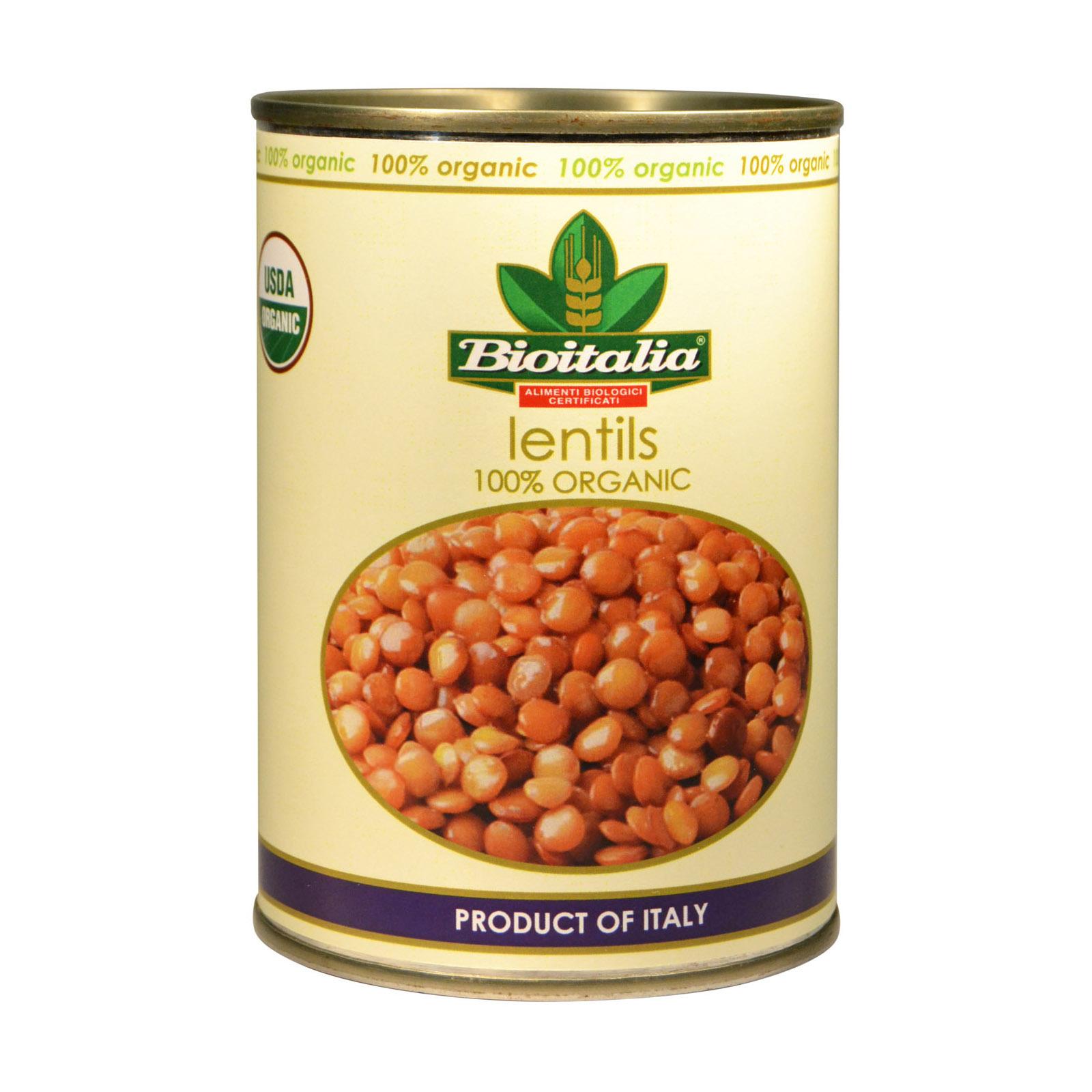 Bioitalia Organic Beans - Lentils - Case of 12 - 14 oz.