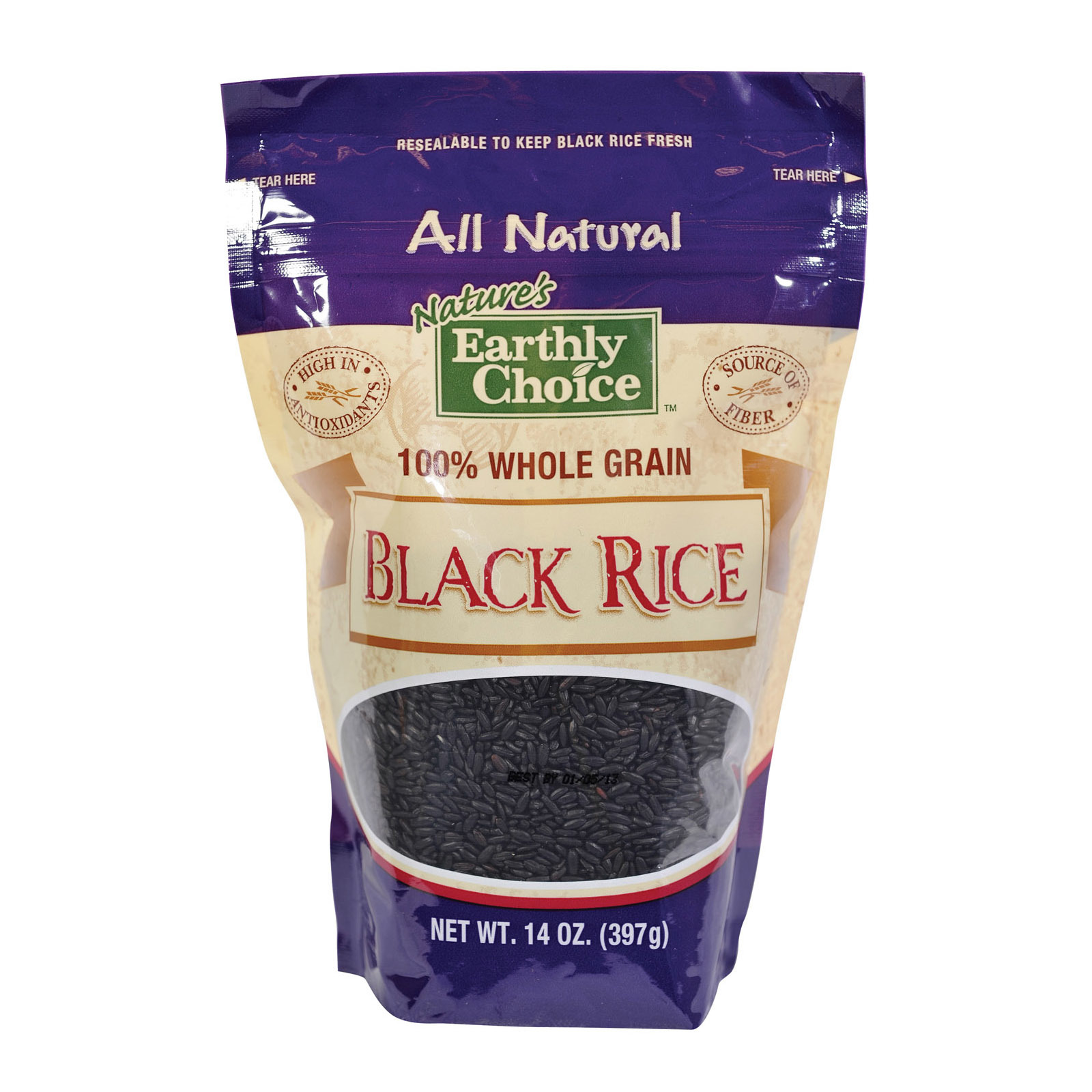 Nature's Earthly Choice Black Rice - Case of 6 - 14 oz.