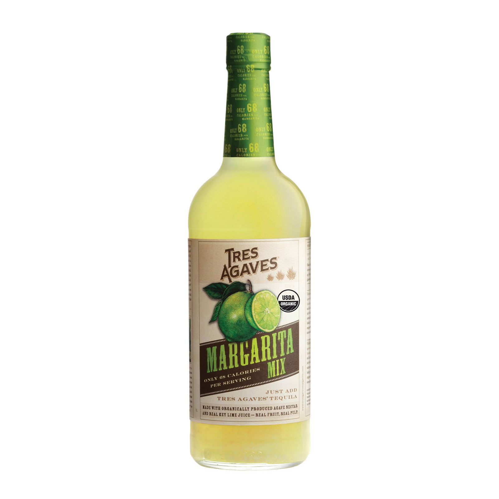 Tres Agaves Mix - Organic - Margarita - Case of 12 - 1 LTR
