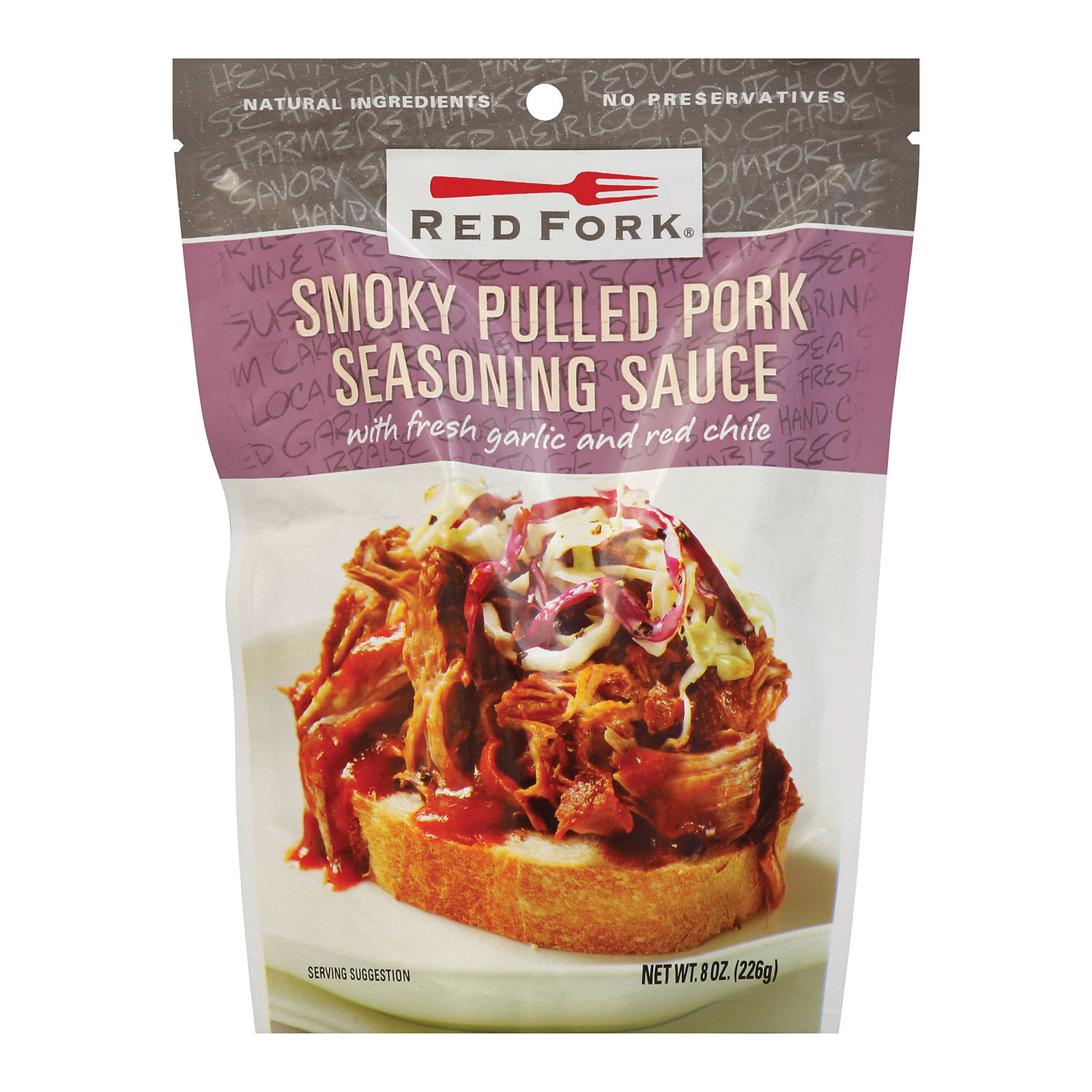 Red Fork Seasoning Sauce - Smoky Pulled Pork - Case of 6 - 8 oz.