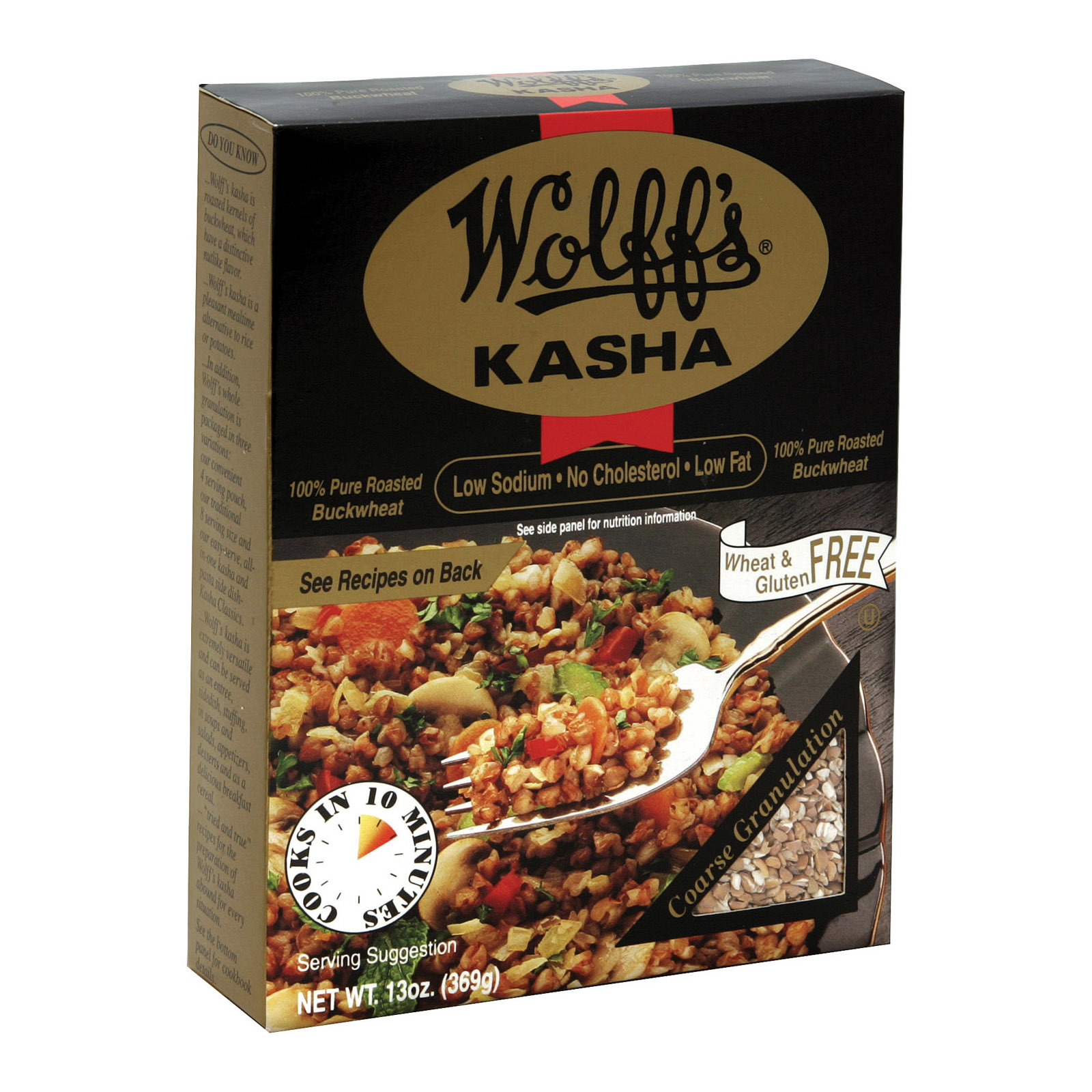 Wolff's Kasha Coarse Granulation - Case of 6 - 13 oz.