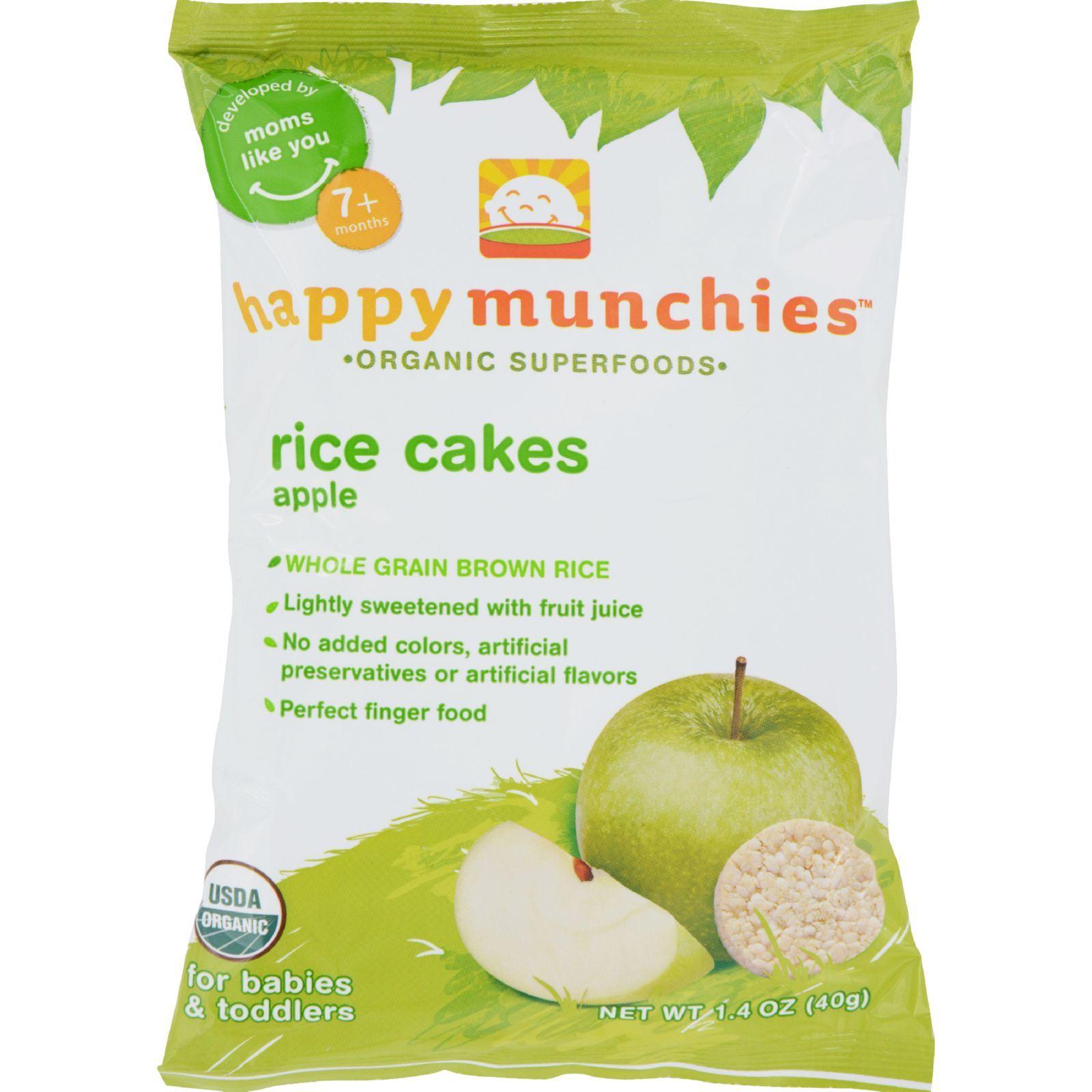 Happy Baby Happy Munchies Rice Cakes Apple - 1.41 oz - Case of 10