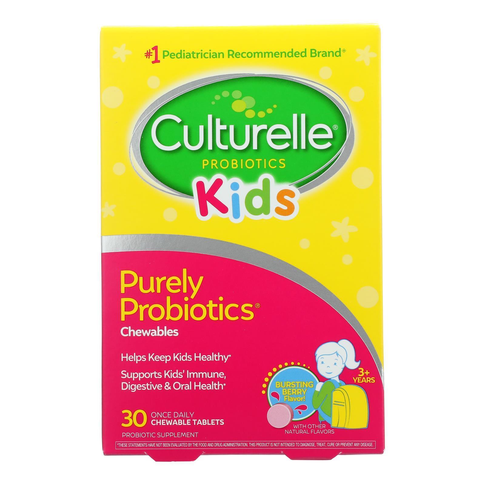 Culturelle Kids Chewables Probiotic Natural Bursting Berry - 30 Chewable Tablets