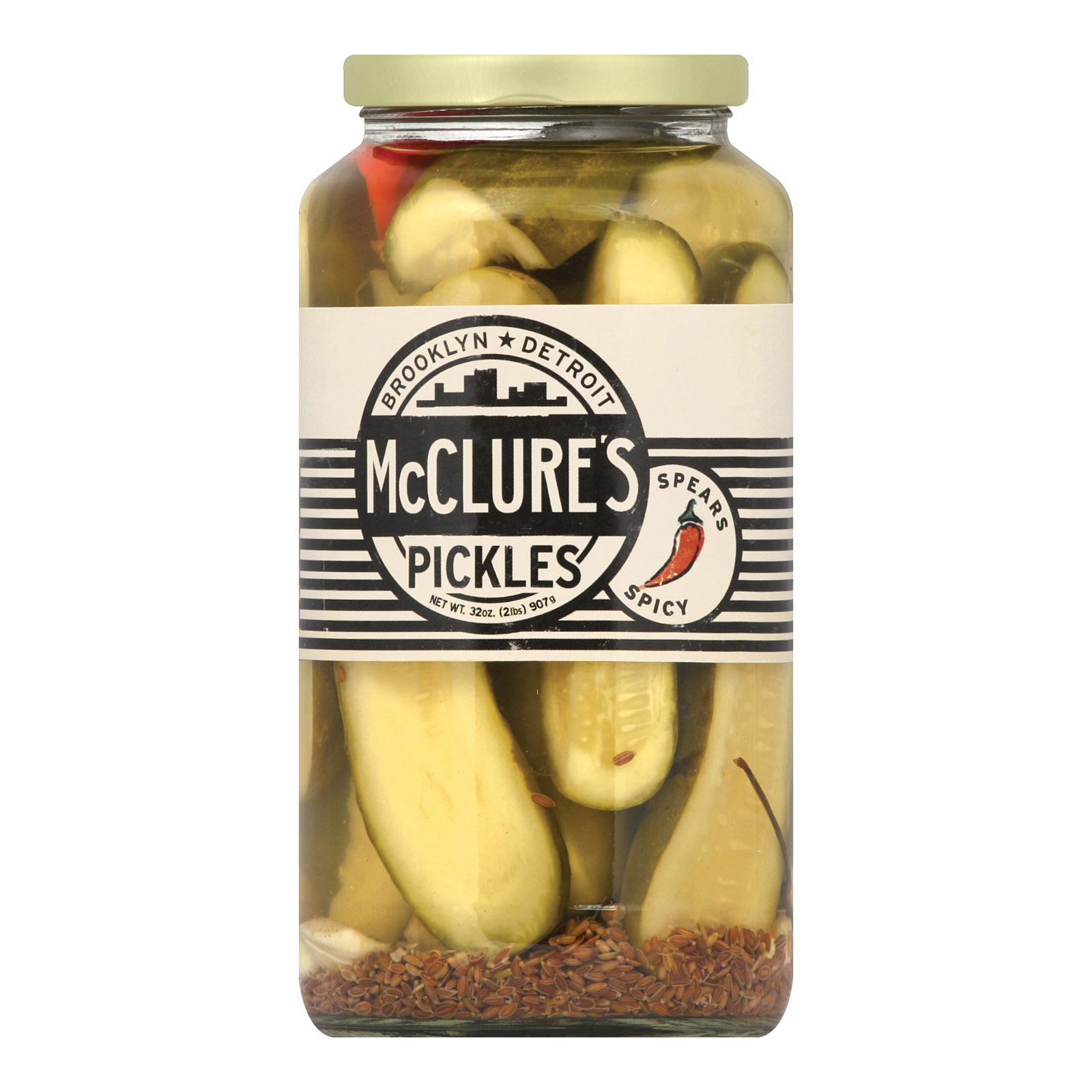McClure's Pickles Spicy Spears - Case of 6 - 32 oz.