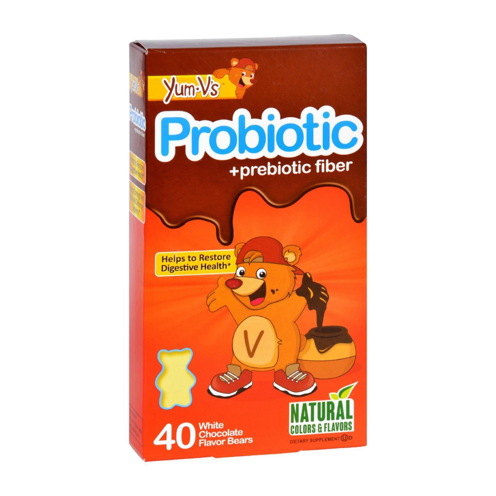Yum V's Probiotic Plus Prebiotic Fiber Vanilla - 40 Bears