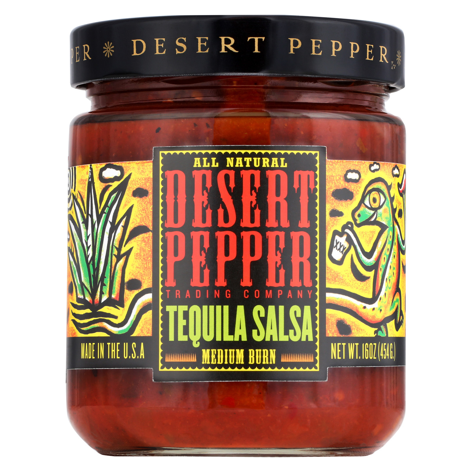 Desert Pepper Trading Medium Burn Tequila Salsa - Case of 6 - 16 oz.