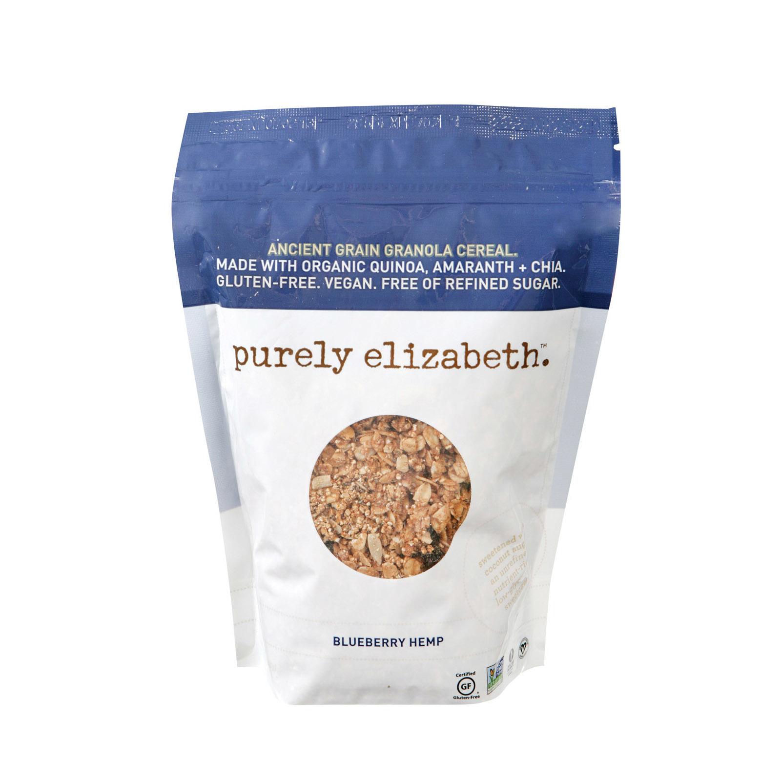 Purely Elizabeth Organic Ancient Grain Granola - Blueberry Hemp - Case of 6 - 12 oz.