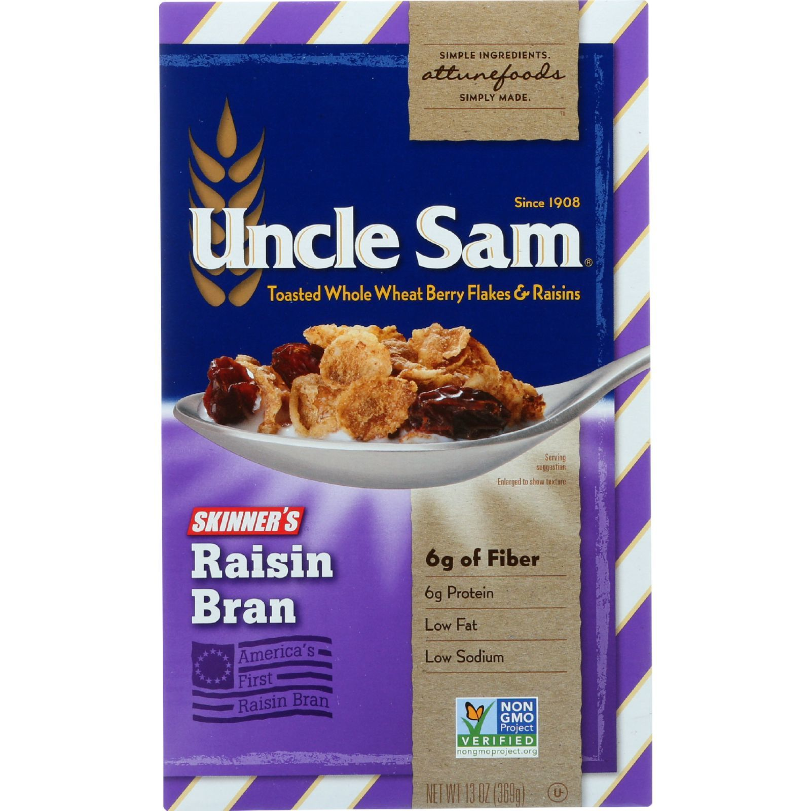 Uncle Sam Cereal Cereal - Skinners Raisin Bran - 13 oz - case of 12
