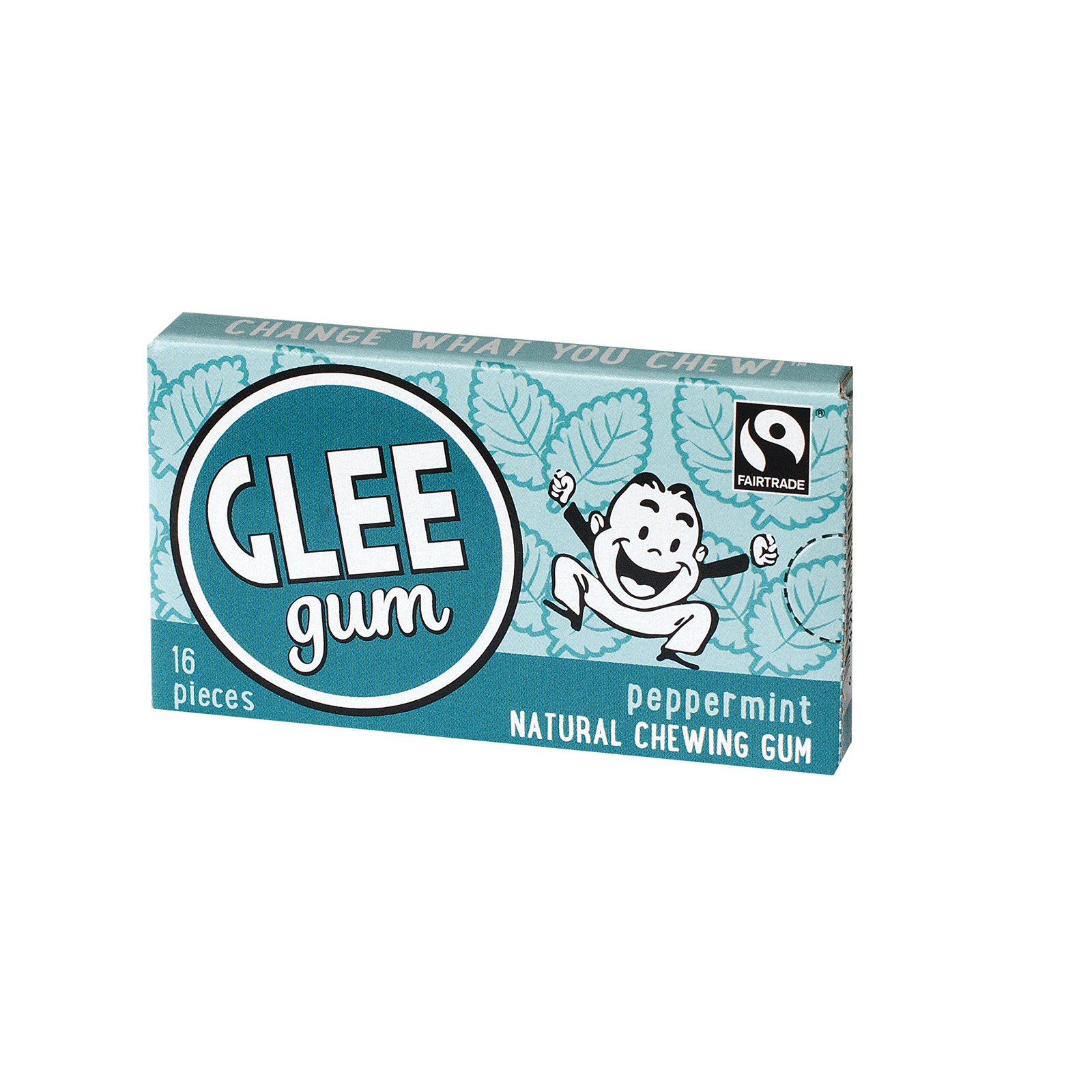Glee Gum Chewing Gum - Peppermint - Case of 12 - 16 Pieces