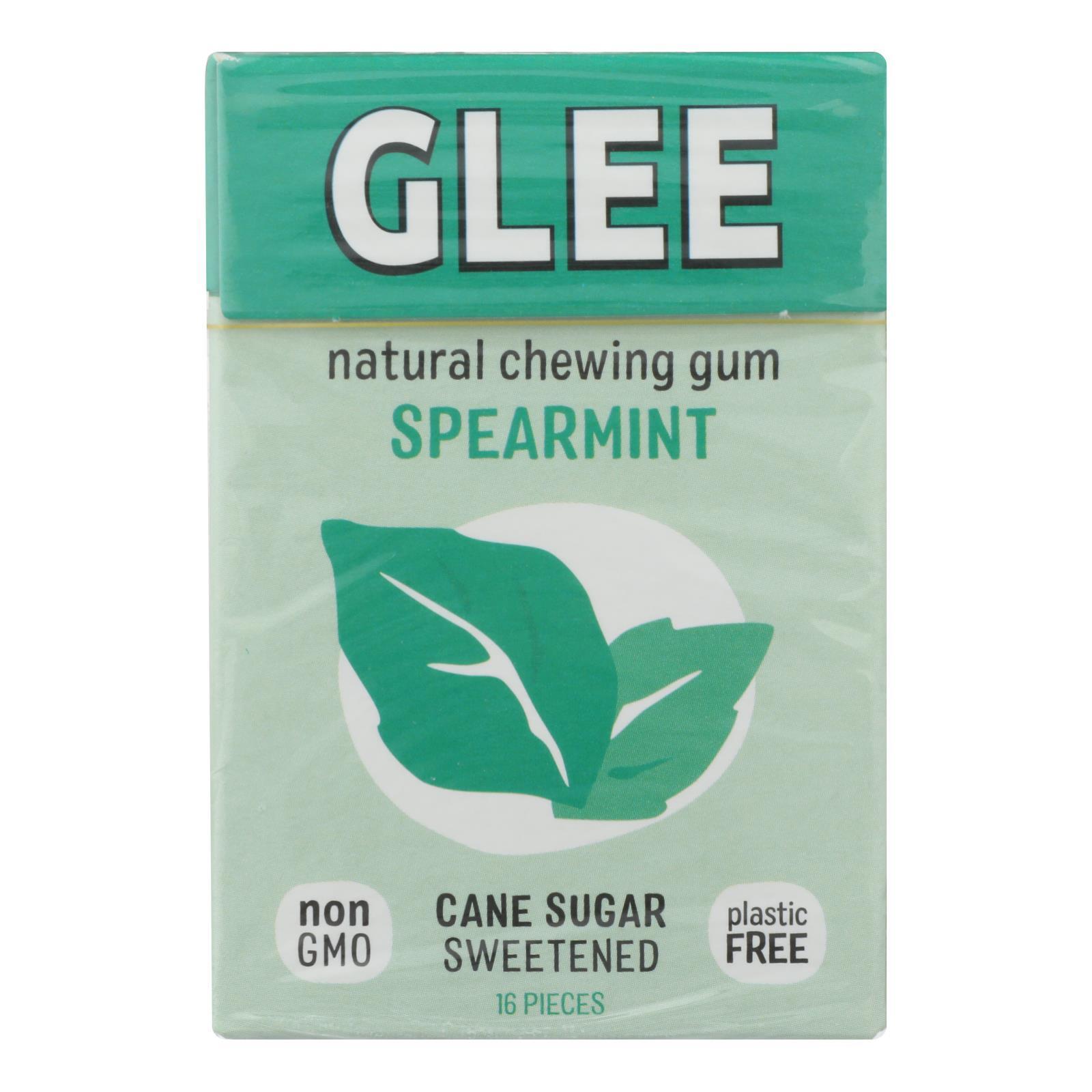 Glee Gum Chewing Gum - Spearmint - Case of 12 - 16 Pieces