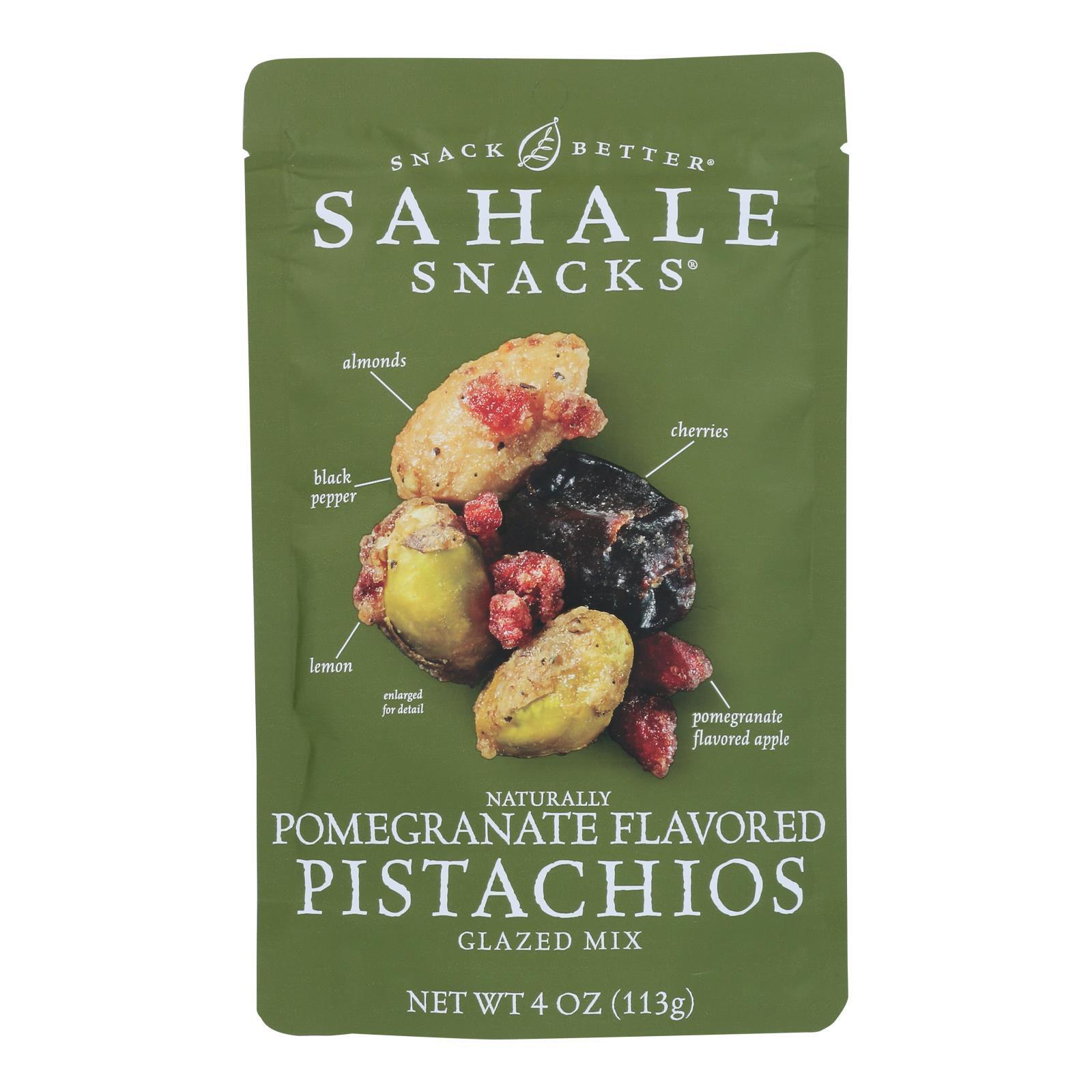 Sahale Snacks Premium Blend Pistachio - Pomegranate - Case of 6 - 4 oz.