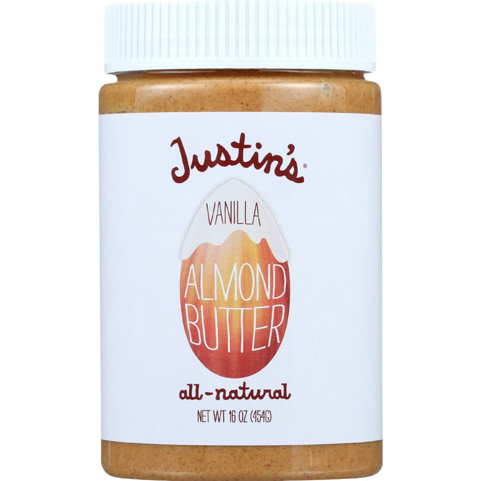 Justin's Nut Butter Almond Butter - Vanilla - Case of 6 - 16 oz.