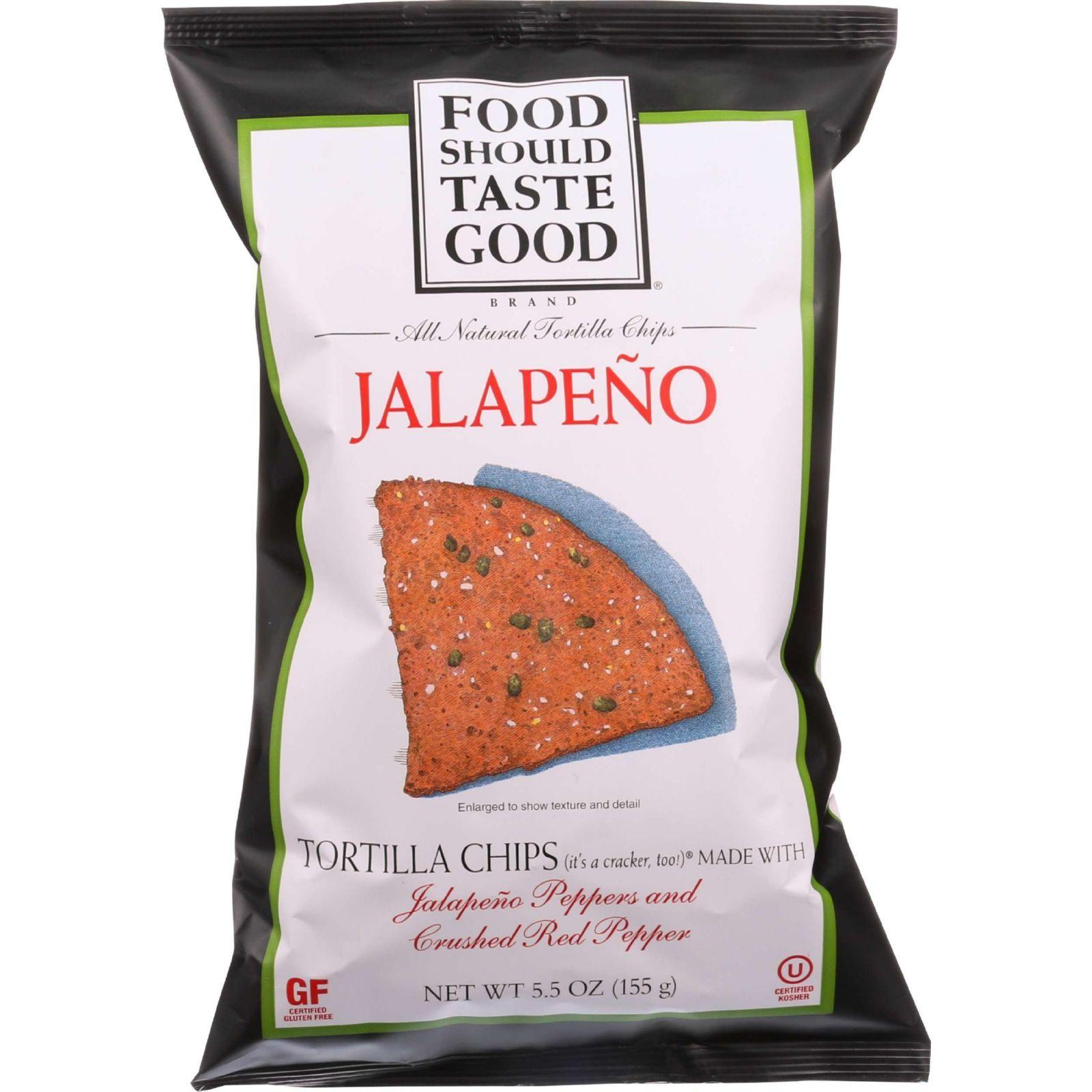 Food Should Taste Good Tortilla Chips - Jalapeno - 5.5 oz - case of 12