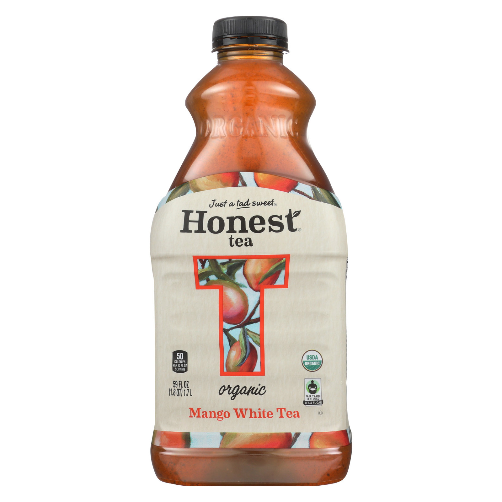 Honest Tea Tea - Organic - Mango Acai White - Case of 8 - 59 fl oz