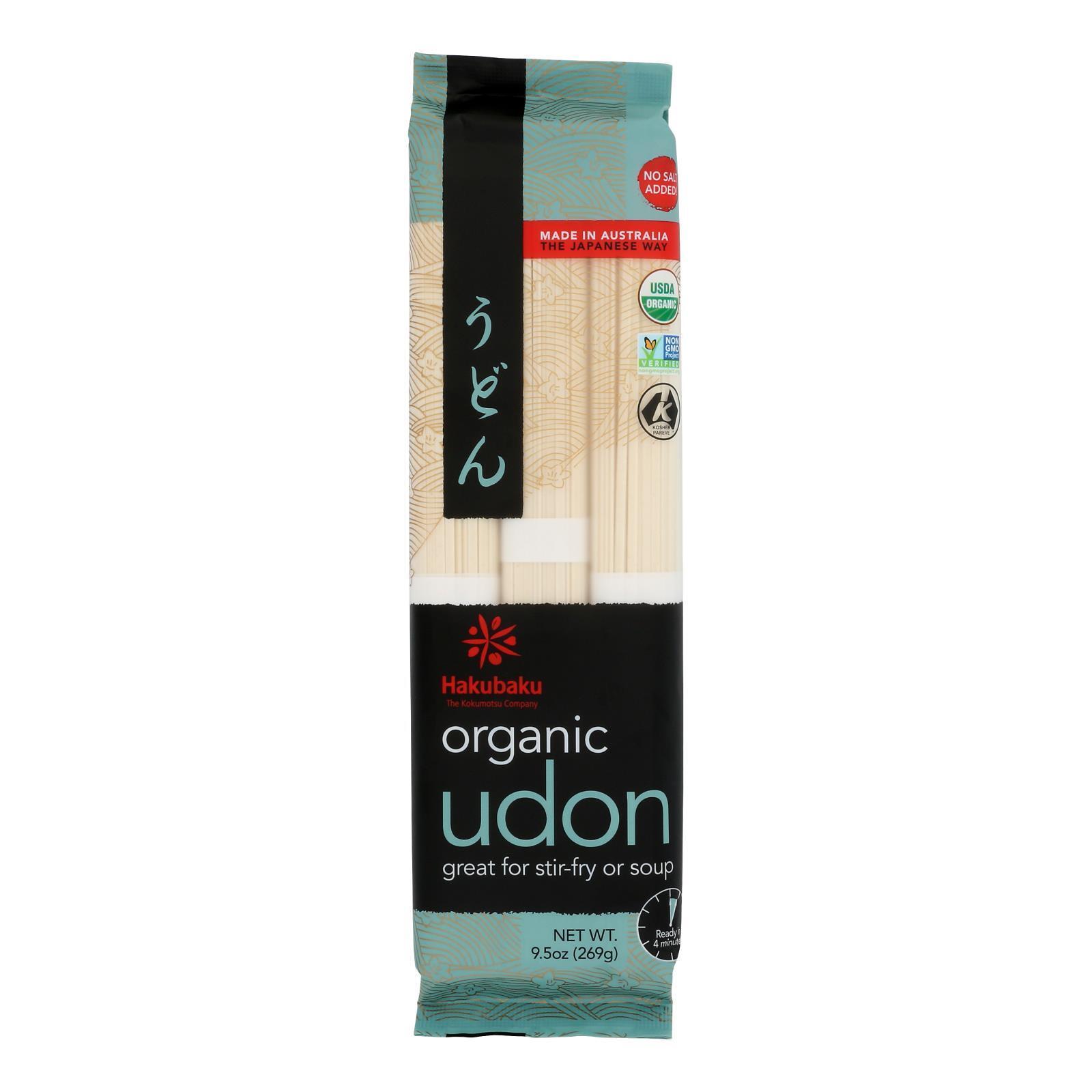 Hakubaku Organic Udon - Case of 8 - 9.52 oz.