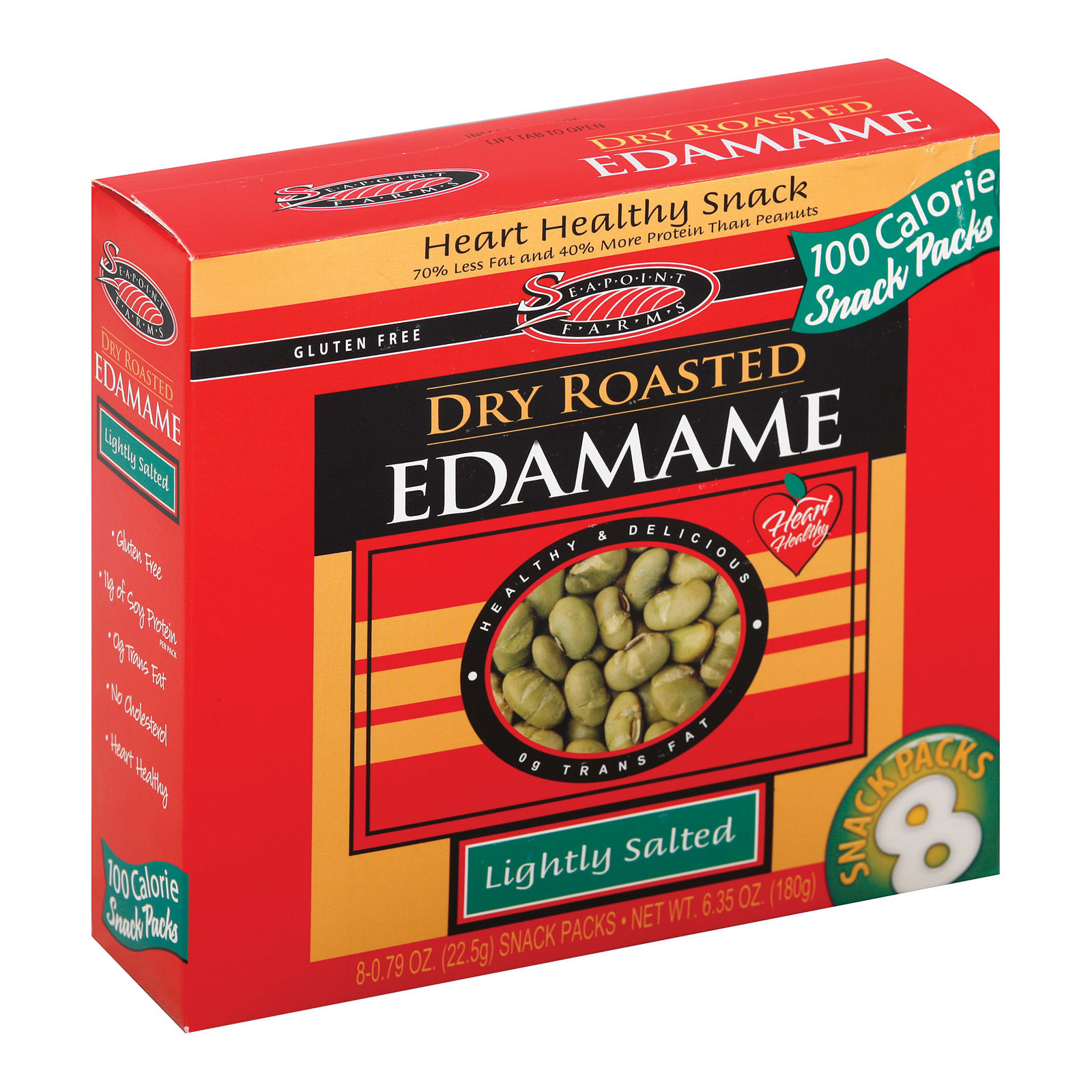 Seapoint Farms Dry Roasted Edamame - Lightly Salted - Case of 12 - 0.79 oz.