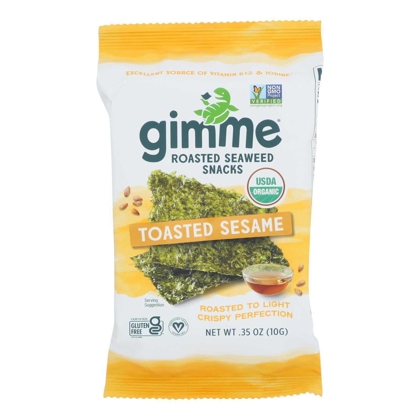 Gimme Organic Roasted - Sesame - Case of 12 - 0.35 oz.