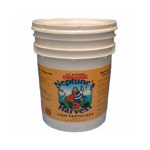 Neptune's Harvest Fish Fertilizer - Orange Label - 5 Gallon