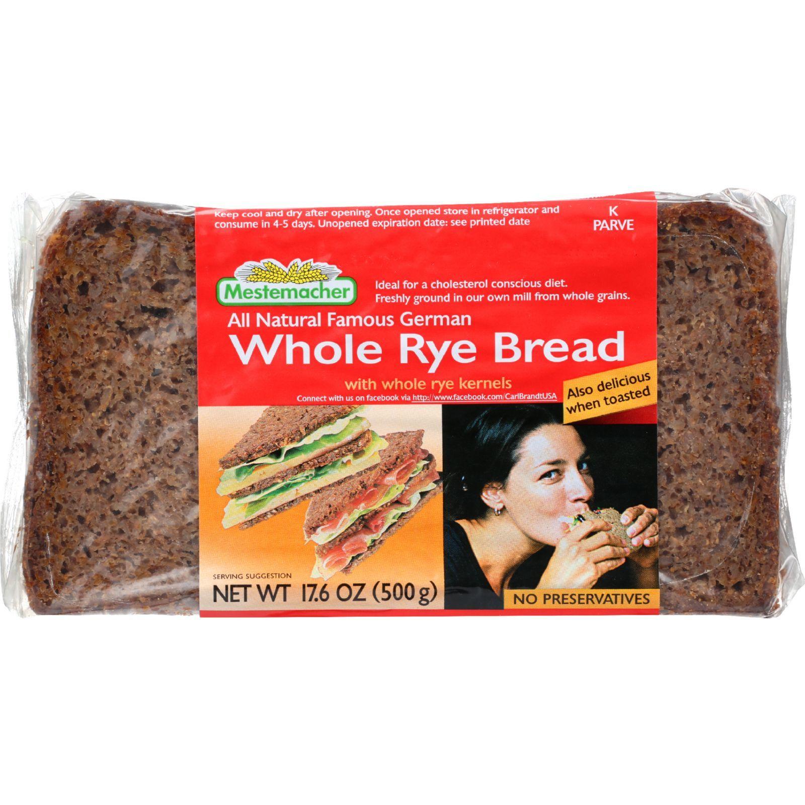 Mestemacher Bread Bread - Rye - Whole - 17.6 oz - 1 each