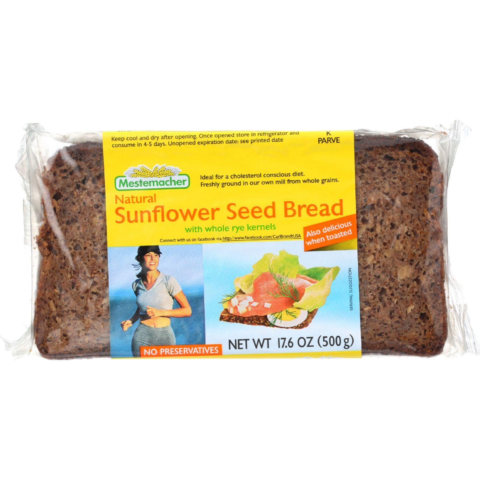 Mestemacher Bread Bread - Sunflower Seed - 17.6 oz - 1 each
