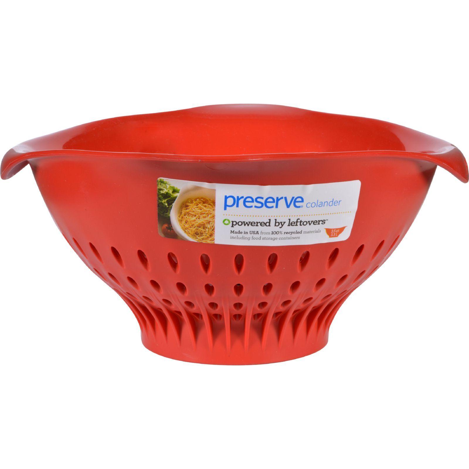 Preserve Large Colander - Red - 3.5 qt