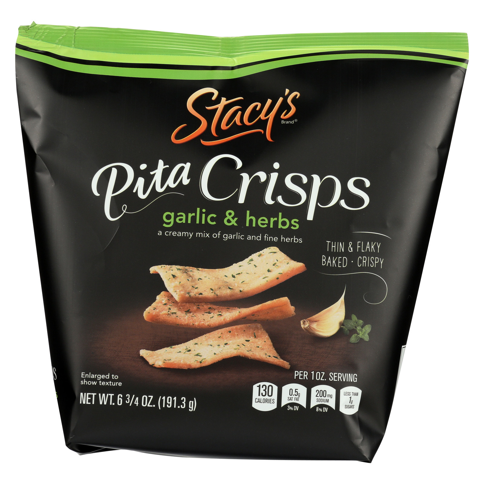 Stacy's Pita Chips Perfectly Thymed Pita Crisps - Case of 8 - 6.75 oz.