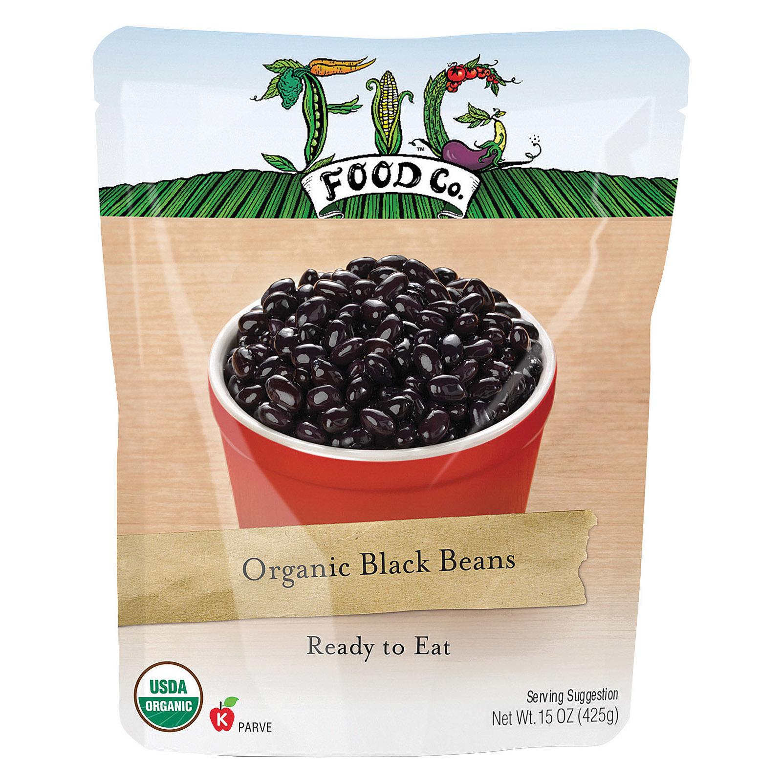 Fig Food Organic Black Beans - Case of 6 - 15 oz.