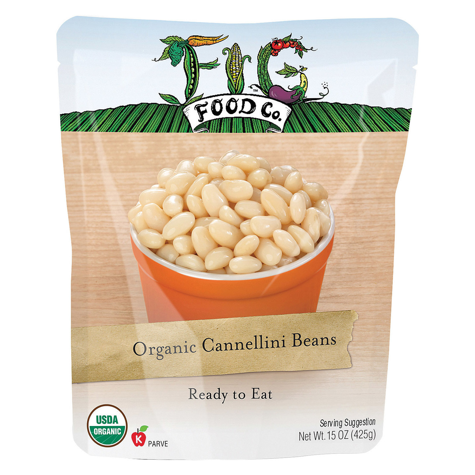 Fig Food Organic Cannellini Beans - Case of 6 - 15 oz.
