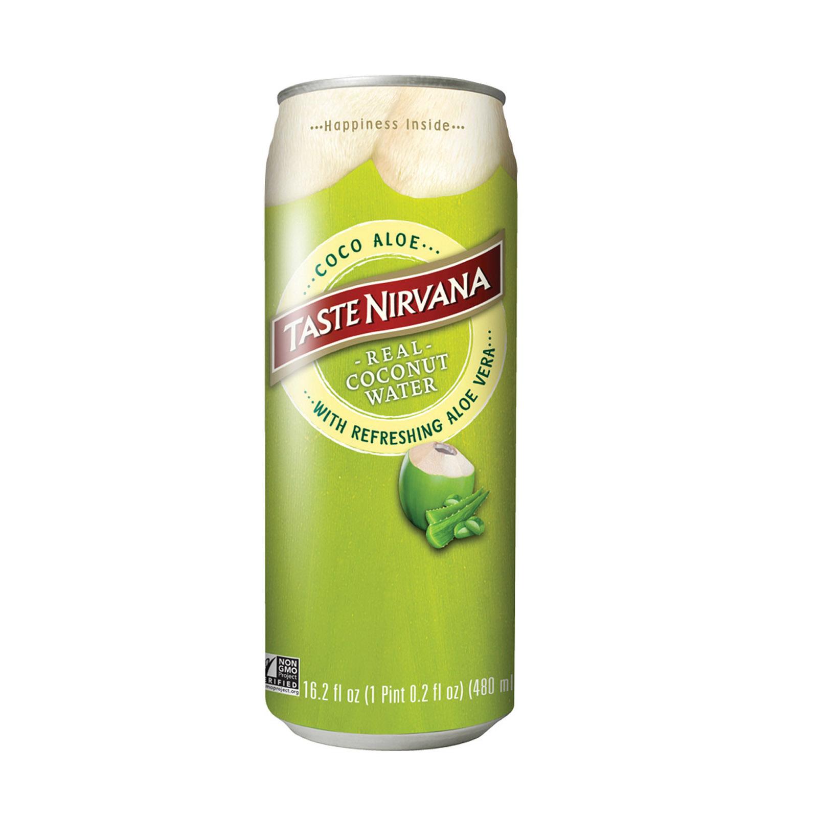 Taste Nirvana Coco Aloe Water - Case of 12 - 16.2 oz.