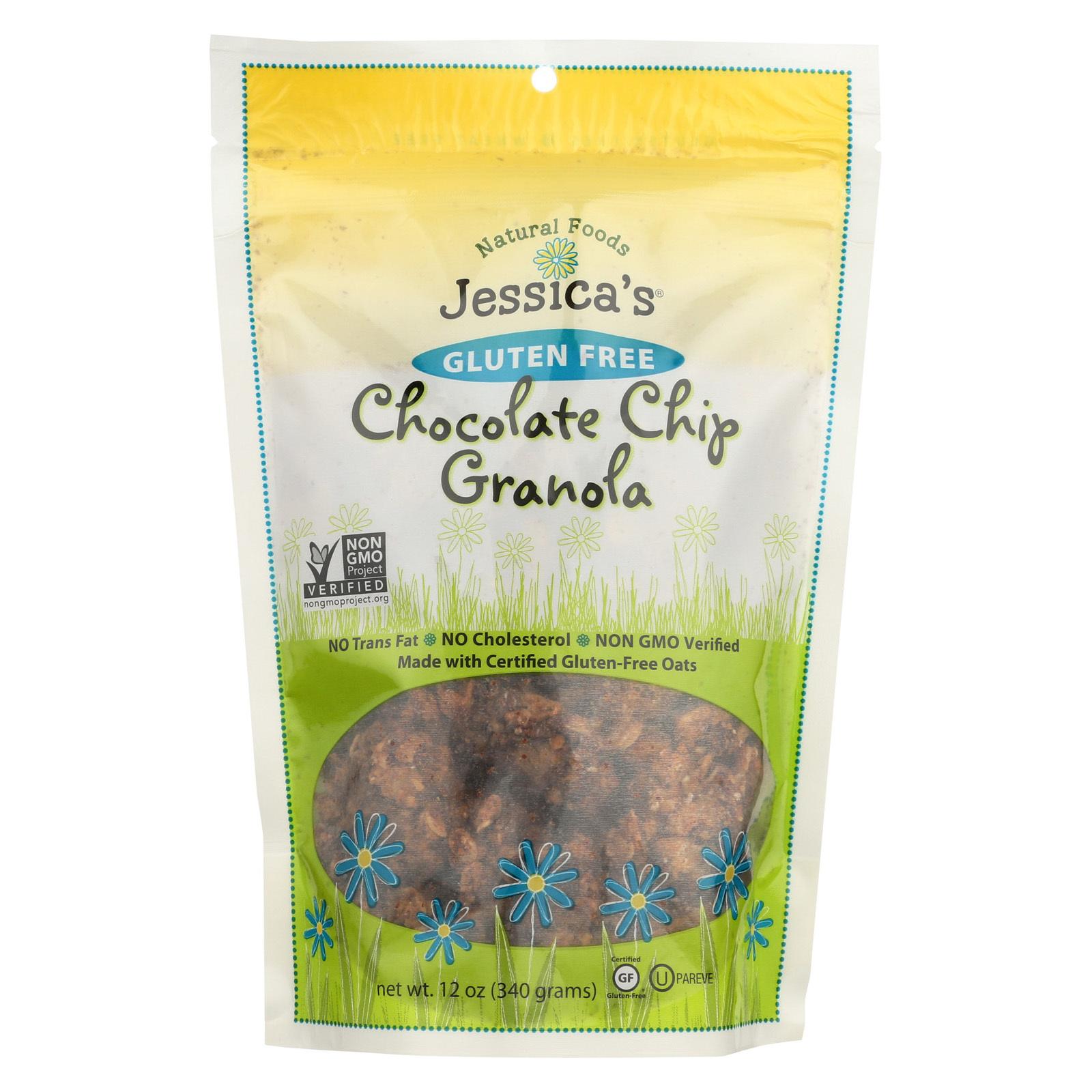 Jessica's Natural Foods Granola - Chocolate Chip - Case of 12 - 12 oz.