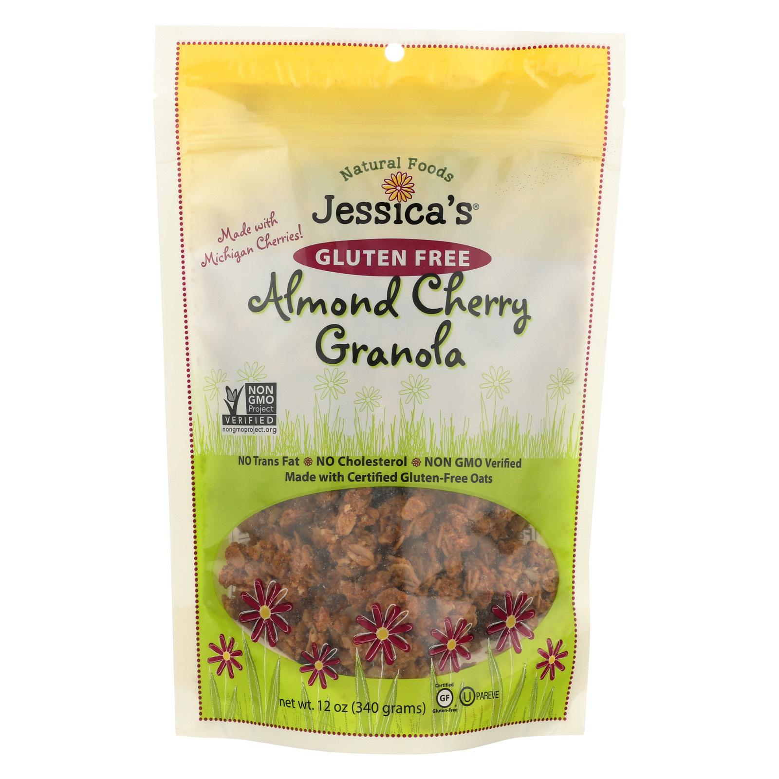 Jessica's Natural Foods Granola - Almond Cherry - Case of 12 - 12 oz.