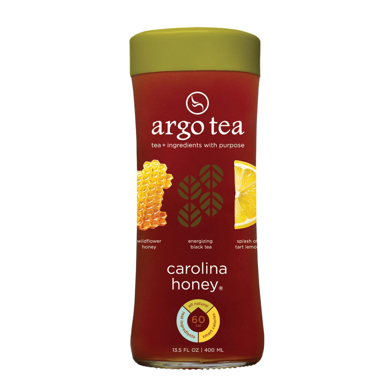 Argo Tea Iced Green Tea - Carolina Honey - Case of 12 - 13.5 Fl oz.