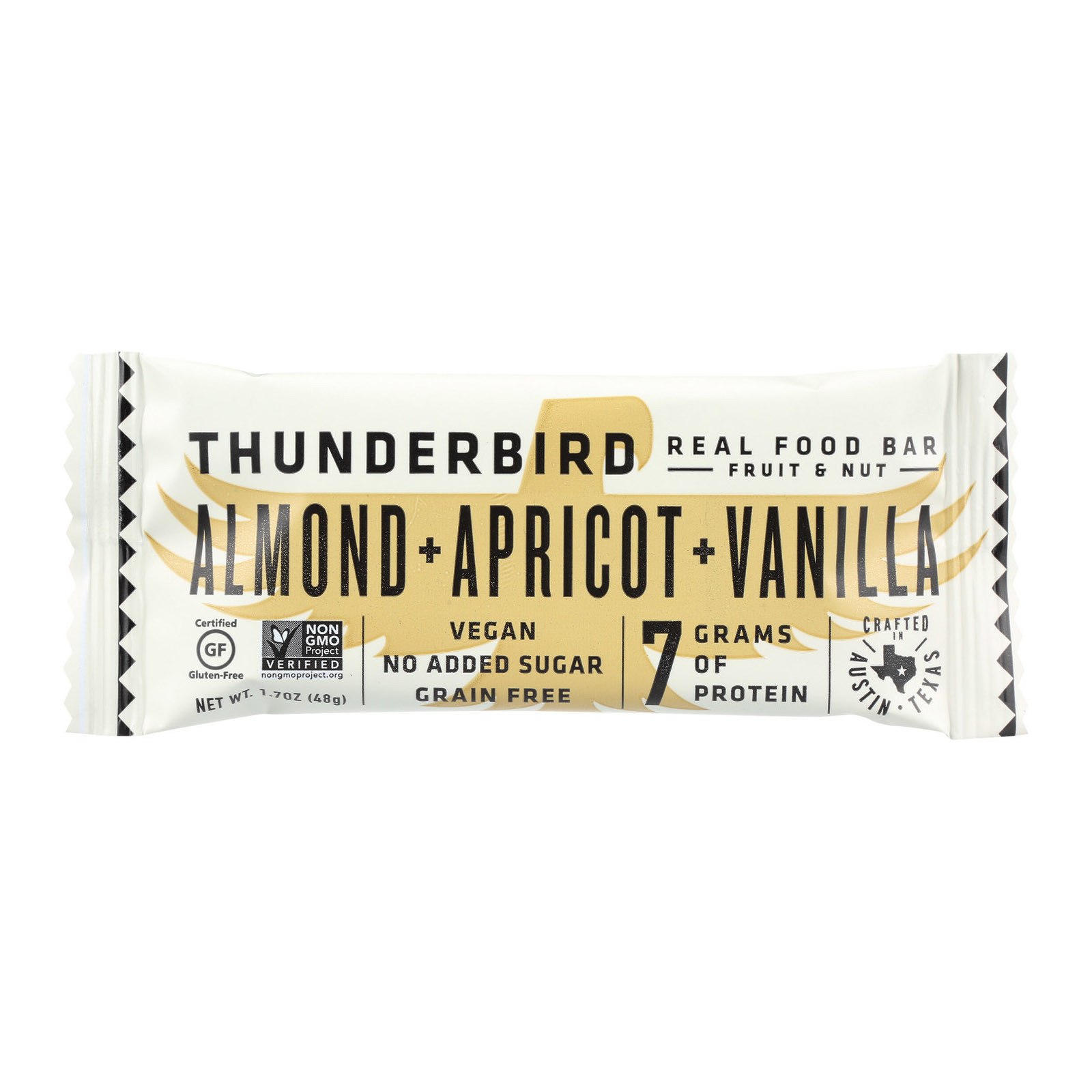 Thunderbird Pow Wow Bar - Almond Cookie - Case of 15 - 1.7 oz