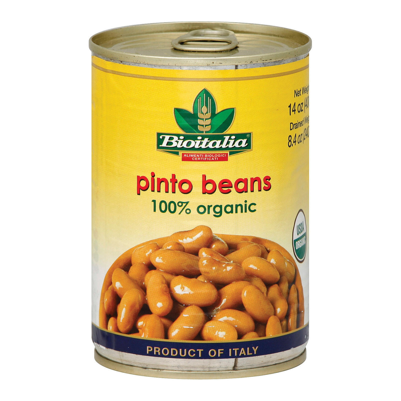 Bioitalia Beans - Pinto Beans - Case of 12 - 14 oz.