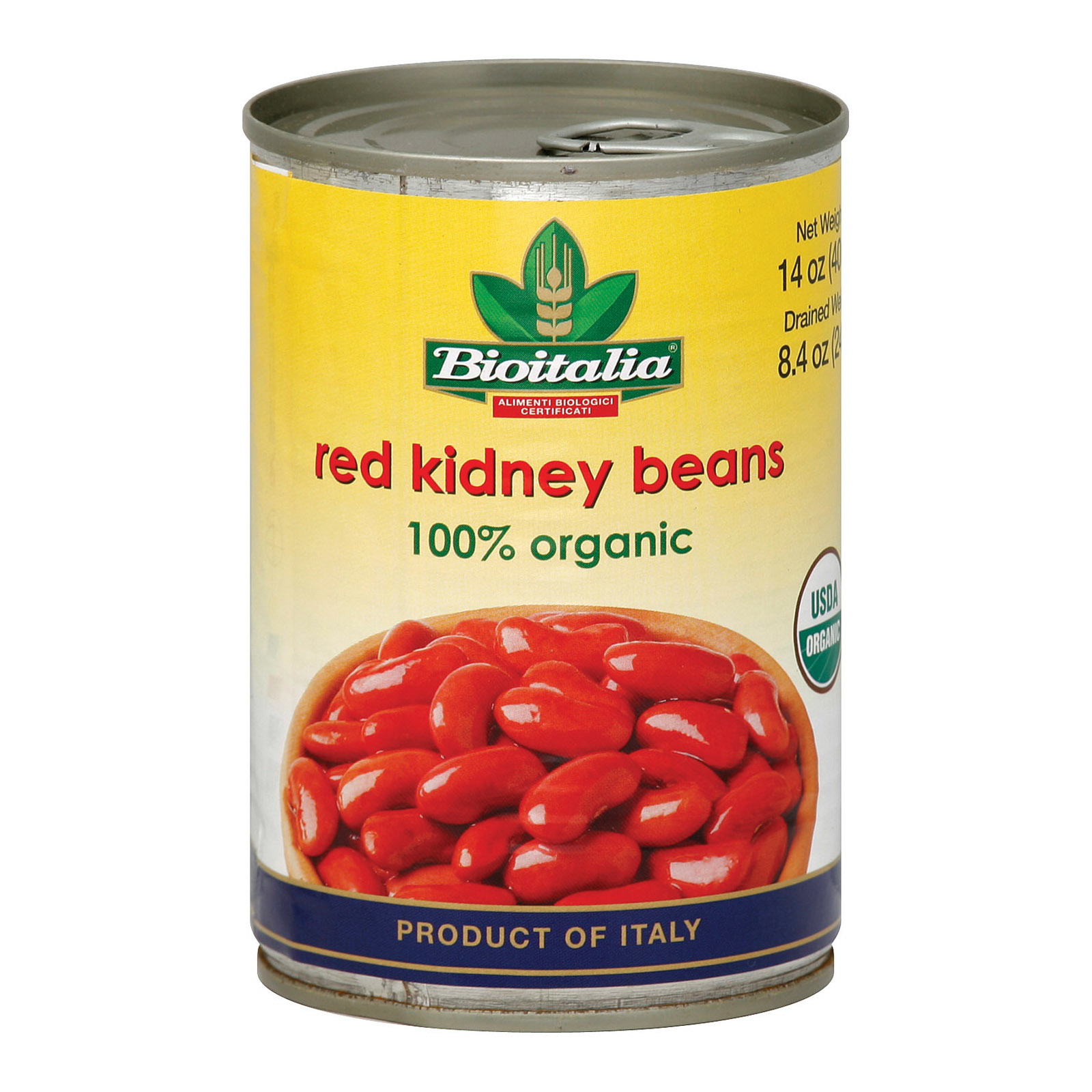 Bioitalia Beans - Red Kidney - Case of 12 - 14 oz.